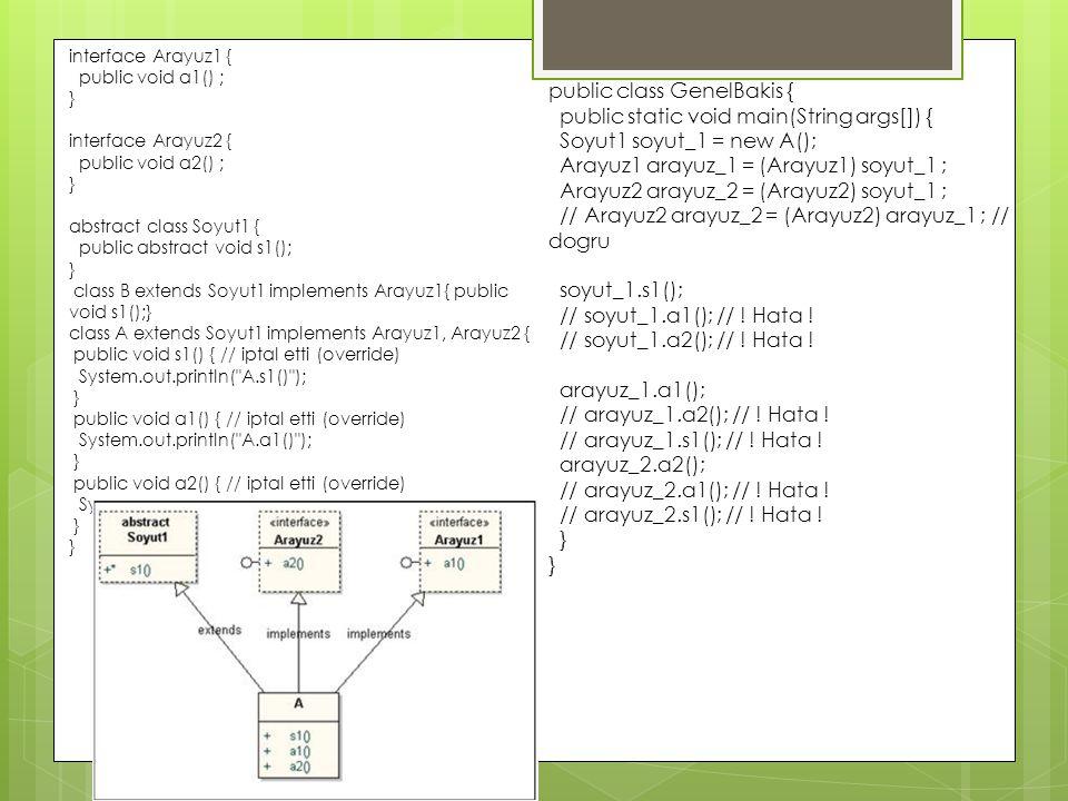 public class GenelBakis { public static void main(String args[]) {